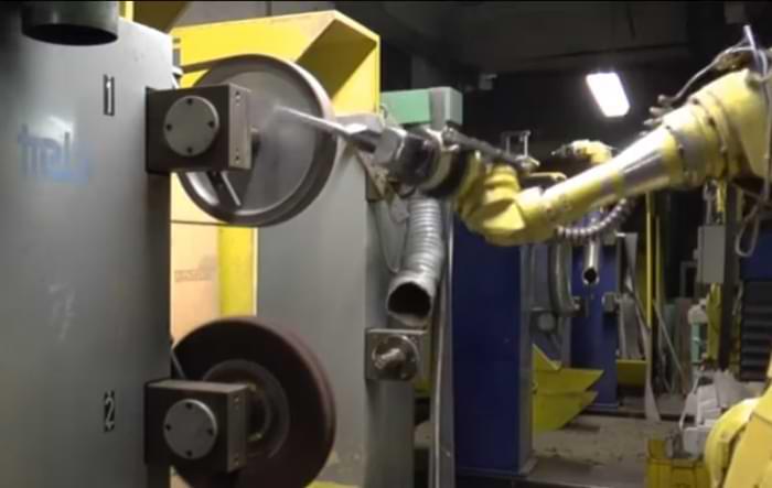 Il tempo ciclo della robot sbavatura consente migliori performance produttive
