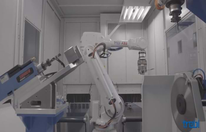 Come è fatta un'isola di robot per sbavatura